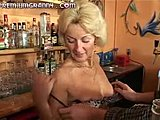 Hardcore, Grandmother, Orgasm, Mature, Blonde, Bar, Blowjob, Young, Granny, Desk, Old