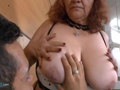 Grandmother, Mature, Fat, Bbw, Old, Granny, High definition, Cunt, Chubby, Blowjob