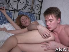 Russian, Bed, Clothes ripped, Assfucking, Small tits, Teen, Babe, Blonde, Anal, Tits, Amateurs, Lick