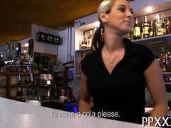 Blonde, Bar, European, Fucking, Hardcore, Sex for cash, Teen, Amateurs, Blowjob