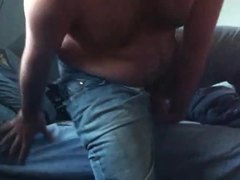 Cum, Ass, Jerking off, Jeans, Hairy