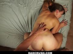 Cumshot, Stretching, Daddy, Big cock, Fucking, Father-in-law, Uncle, Brunette, Old and young, Small tits, Facial, Trimmed pussy, Hardcore, Dad and girl, Not daughter, Cock, Monster cock