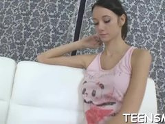 Barely legal teen chicks enjoy riding the cocks