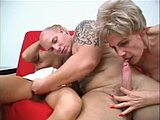 Old and young, Group, Mature, Lucky, 3 some, Fucking, Granny, Russian, Young, Grandmother